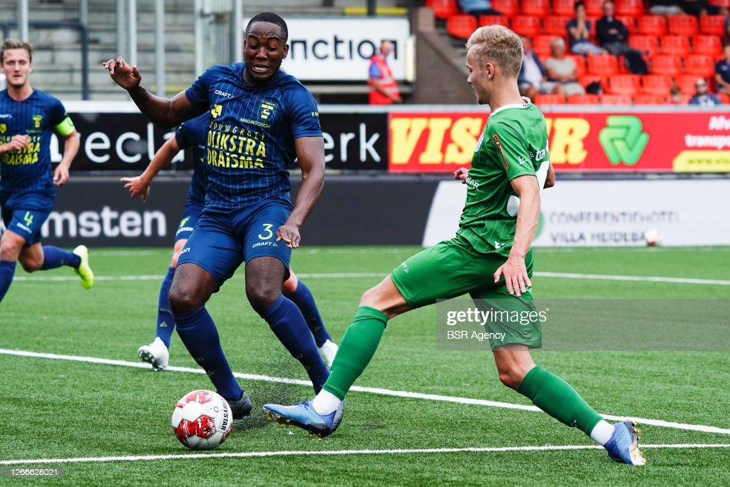 Calvin Mac Intosch Of Sc Cambuur Dean Huiberts Of Pec Zwolle Seen News Photo Getty Images