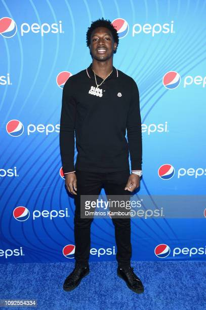 "Calvin Ridley attends ""Planet Pepsi"" Pre-Super Bowl LIII party, featuring Travis Scott, on February 1, 2019 in Atlanta, Georgia."