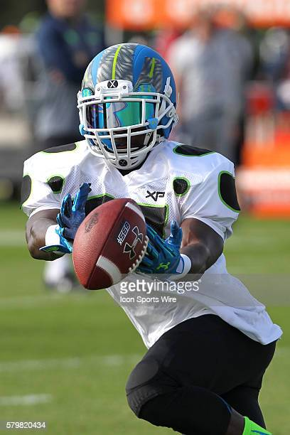Calvin Ridley of Coconut Creek FL during the 2014 Under Armour AllAmerican practice at Disney's ESPN Wide World of Sports Complex in Kissimmee Florida