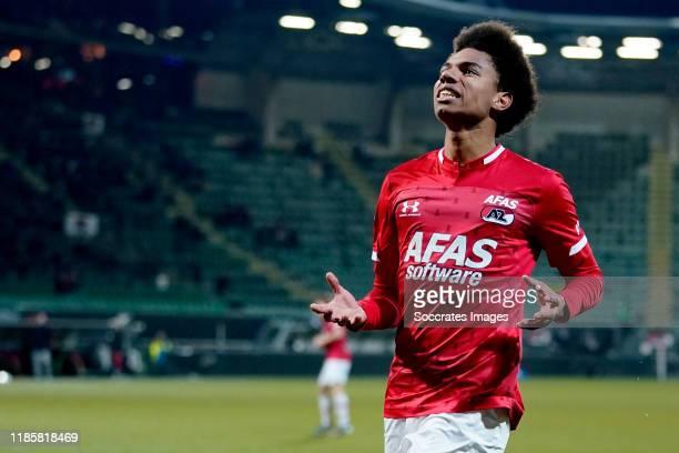 Calvin Stengs of AZ Alkmaar during the Dutch Eredivisie match between AZ Alkmaar v VVV-Venlo at the AFAS Stadium on December 1, 2019 in Alkmaar...