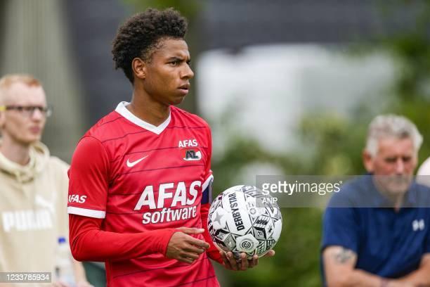 Calvin Stengs of AZ during the friendly match between AZ Alkmaar and NEC Nijmegen on July 03, 2021 in Dirkshorn, Netherlands. ANP ED OF THE POL
