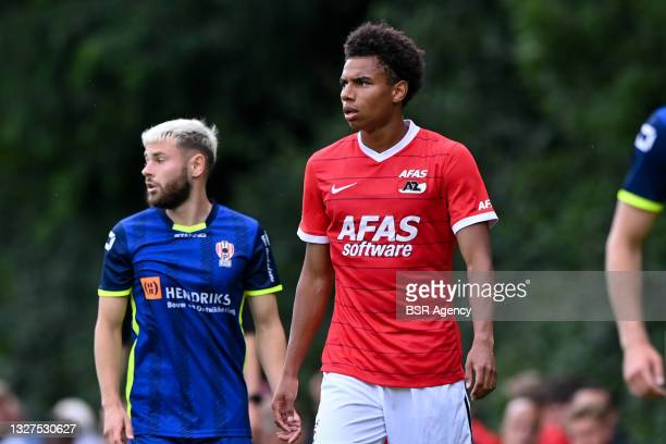 Calvin Stengs of AZ during the Pre Season Friendly match between AZ and TOP Oss at Sportpark Ericaweg on July 7, 2021 in Epe, Netherlands