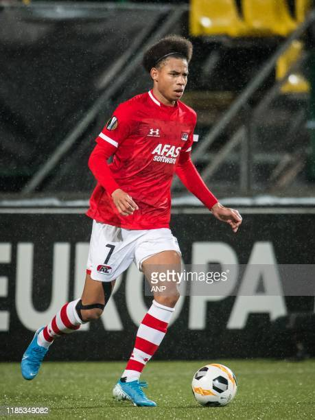 Calvin Stengs of AZ during the UEFA Europa League group L match between AZ Alkmaar and FK Partizan at Cars Jeans stadium on November 28, 2019 in The...