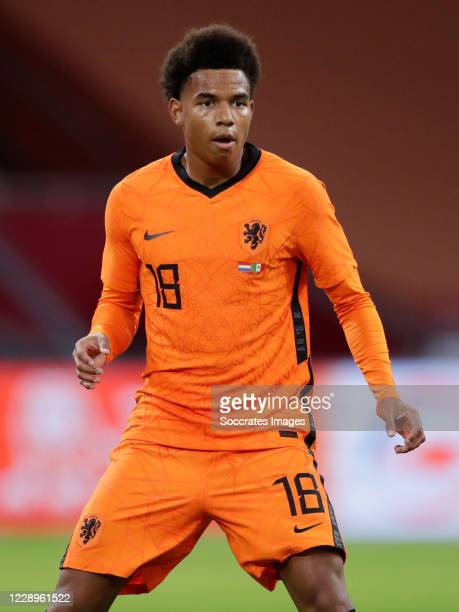 Calvin Stengs of Holland during the International Friendly match between Holland v Mexico at the Johan Cruijff ArenA on October 7, 2020 in Amsterdam...