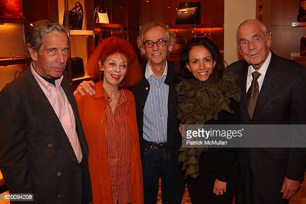 Calvin Tomkins, Jeanne-Claude, Christo, Dodie Kazanjian and Theodore Kheel attend In Memoriam: Jeanne-Claude Denat de Guillebon 1935 ñ 2009 at Steven...