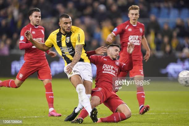 Calvin Verdonk of FC Twente JayRoy Grot of Vitesse Julio Pleguezuelo of FC Twente Oriol Busquets of FC Twente 10 during the Dutch Eredivisie match...