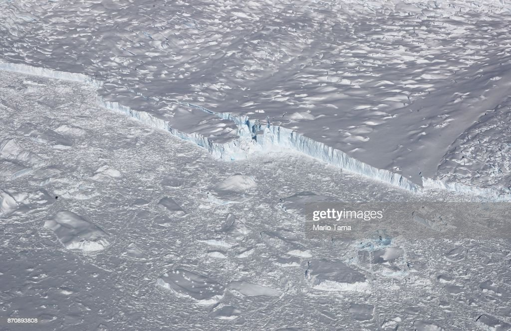 NASA's Operation IceBridge Studies Ice Loss In Antarctica : News Photo
