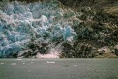 Calving Ice on the LeConte Glacier.