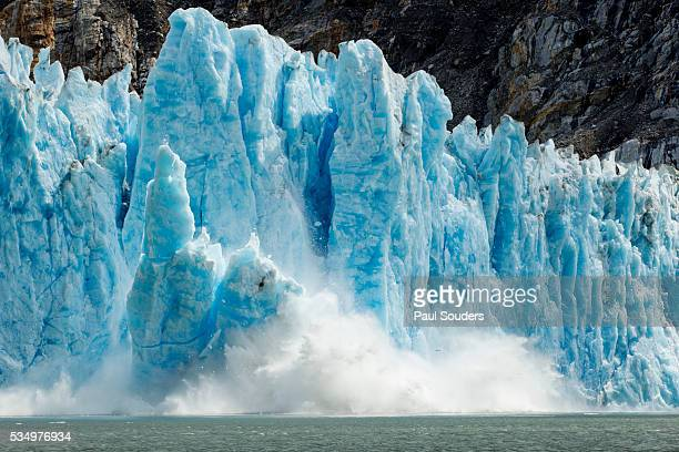 Calving Icebergs from Dawes Glacier, Alaska