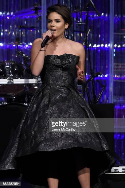 Caly Bevier performs onstage at Gabrielle's Angel Foundation's Angel Ball 2017 at Cipriani Wall Street on October 23 2017 in New York City