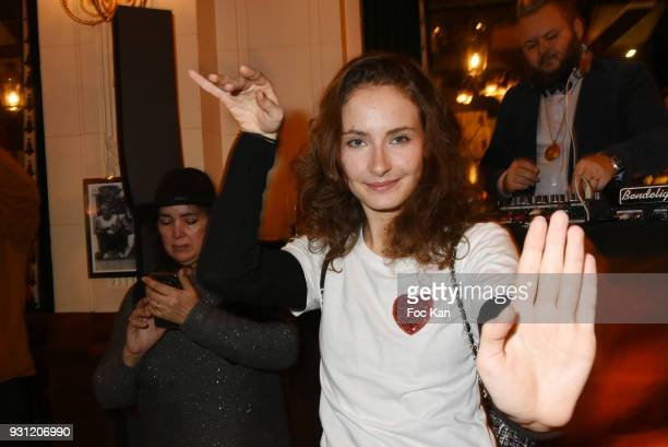 Calypso attends Marc Cerrone Exhibition Preview at Deux Magots a on March 12 2018 in Paris France