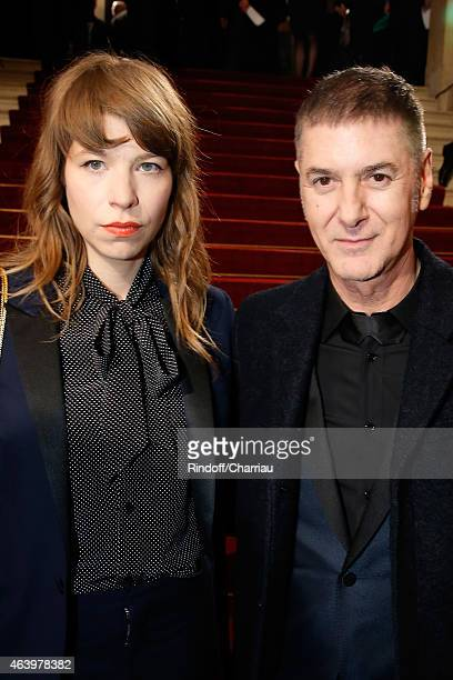 Calypso Valois and Etienne Daho arrive at the 40th Cesar Film Awards 2015 Cocktail at Theatre du Chatelet on February 20 2015 in Paris France