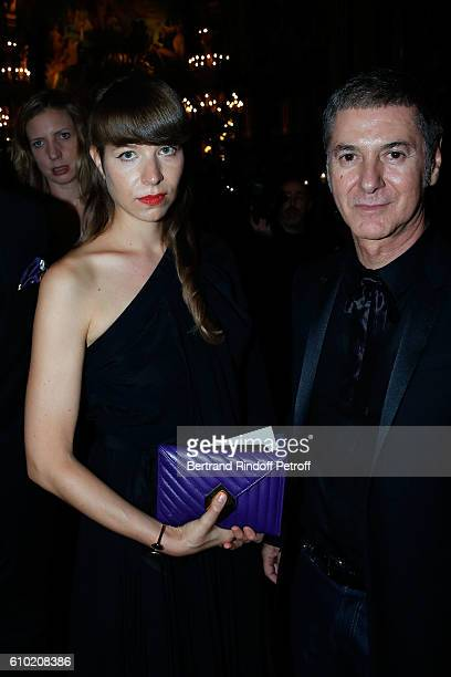 Calypso Valois and Etienne Daho attend the Opening Season Gala at Opera Garnier on September 24 2016 in Paris France