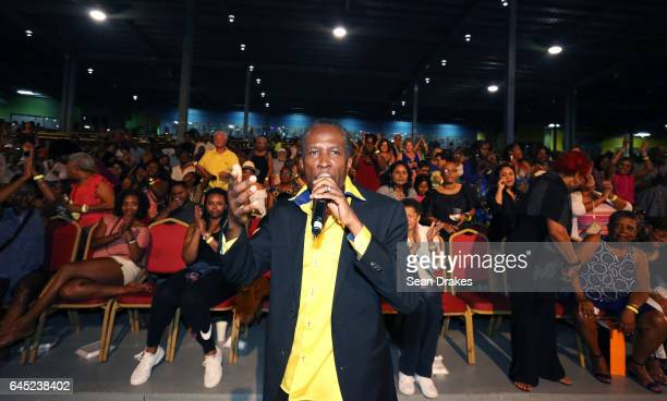Calypsonian David Rudder performs in the Grand Stand at the So Calypso concert during Trinidad Carnival at Queen's Park Savannah on February 24 2017...