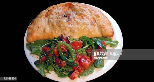 Calzone with salad
