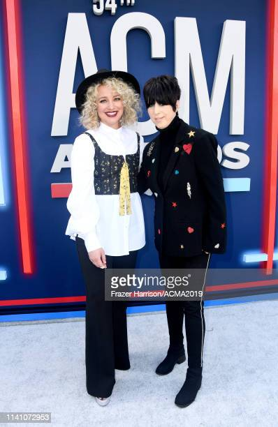 Cam and Diane Warren attend the 54th Academy Of Country Music Awards at MGM Grand Hotel Casino on April 07 2019 in Las Vegas Nevada