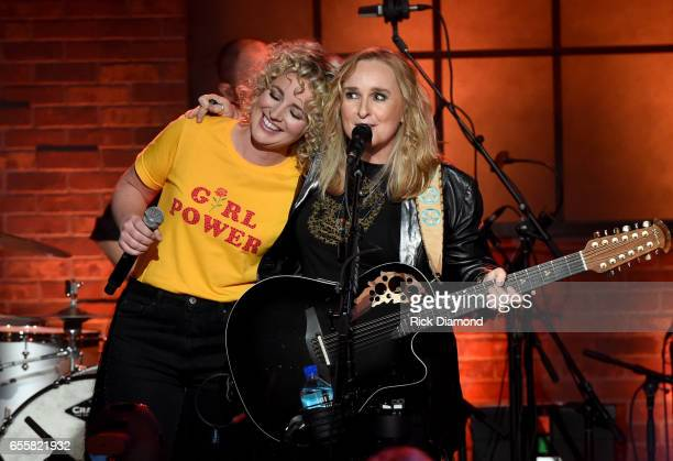 Cam and Melissa Etheridge perform onstage during a special Woman's March Show at Skyville Live on March 20 2017 in Nashville Tennessee