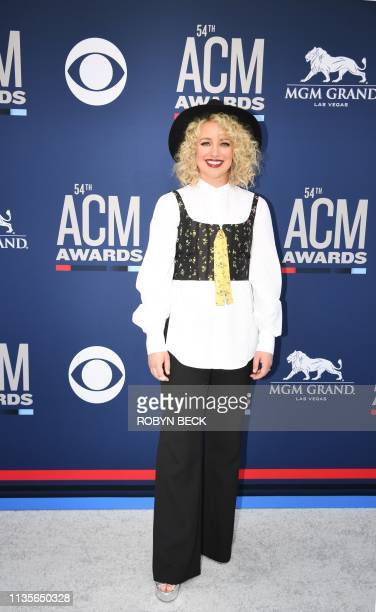 Cam arrives for the 54th Academy of Country Music Awards on April 7 2019 in Las Vegas Nevada
