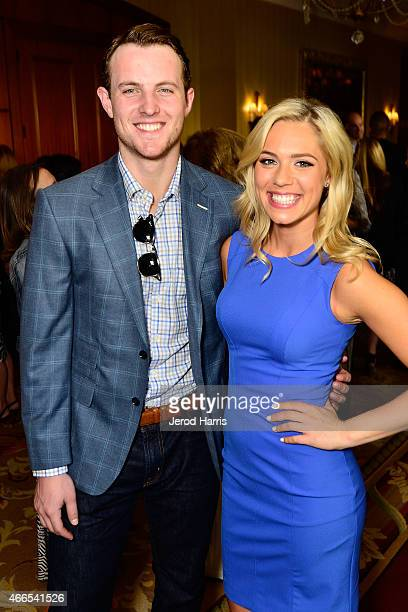 Cam Fowler and Jasmine Maggard attend the Anaheim Lady Ducks Fashion Show Luncheon with Bloomingdale's South Coast Plaza on March 16 2015 in Newport...