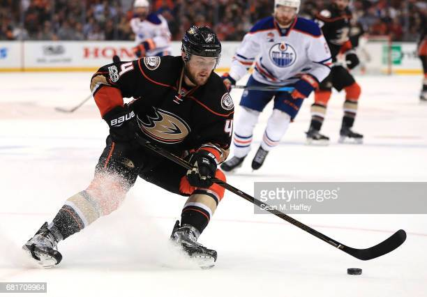 Cam Fowler of the Anaheim Ducks skates against the Edmonton Oilers in Game Seven of the Western Conference Second Round during the 2017 NHL Stanley...