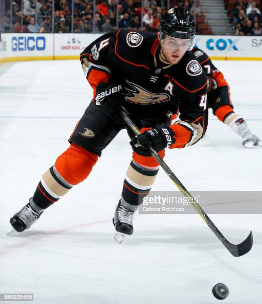Cam Fowler of the Anaheim Ducks skates with the puck during the game against the Ottawa Senators on December 6 2017 at Honda Center in Anaheim...