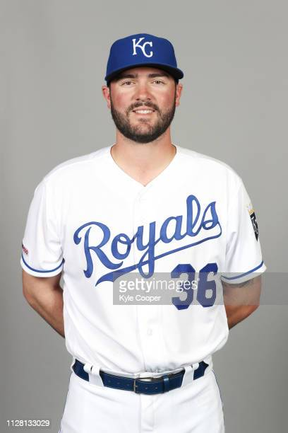 Cam Gallagher of the Kansas City Royals poses during Photo Day on Thursday February 21 2019 at Surprise Stadium in Surprise Arizona