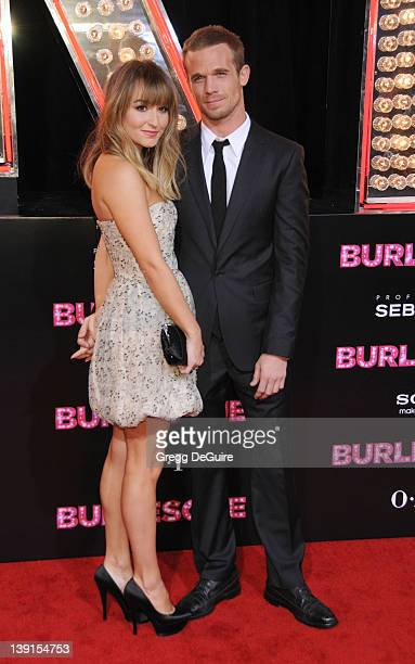 Cam Gigandet and Dominique Geisendorff arrive at the Los Angeles Premiere of Burlesque at the Grauman's Chinese Theatre on November 15 2010 in...