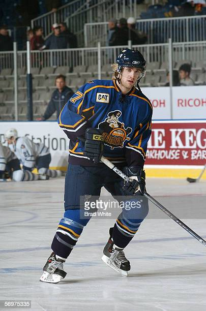 Cam Keith of the Peoria Rivermen skates against the Toronto Marlies at Ricoh Coliseum on February 3 2006 in Toronto Ontario Canada The Rivermen won 64