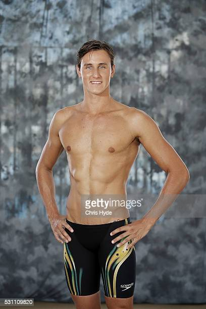 Cam McEvoy poses during the Speedo Rio 2016 Team Suit Launch on May 13 2016 in Gold Coast Australia