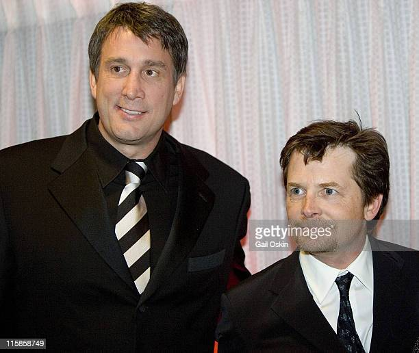 Cam Neely and Michael J Fox during The Cam Neely Foundation's 'Betting on a Cause Cure' 2007 Event February 24 2007 in Cambridge Massachusetts United...