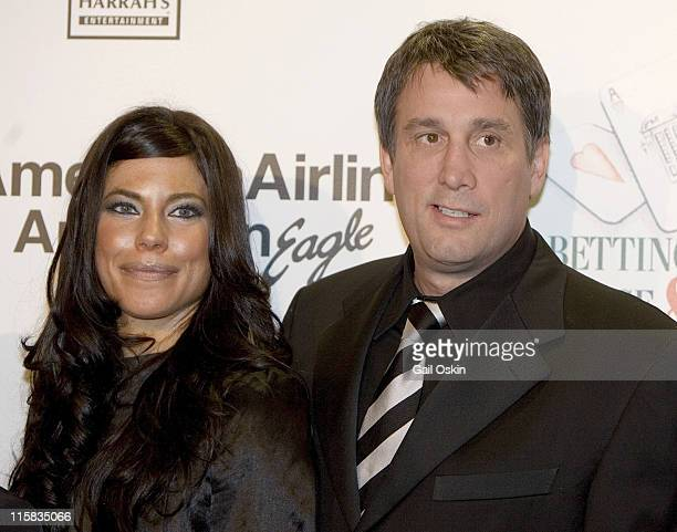 Cam Neely and wife Paulina Neely during The Cam Neely Foundation's 'Betting on a Cause Cure' 2007 Event February 24 2007 in Cambridge Massachusetts...