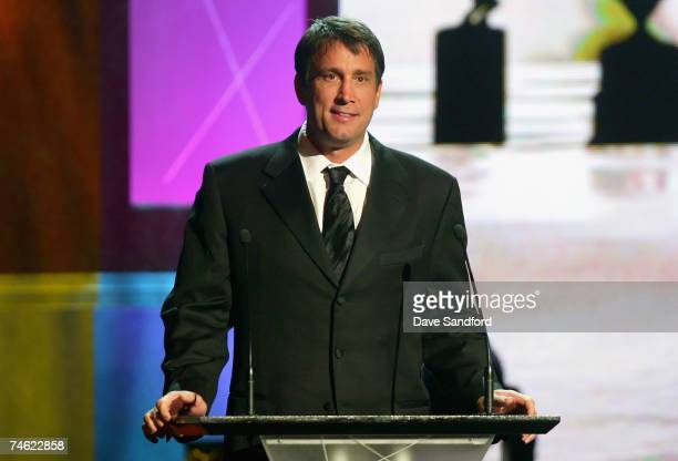 Cam Neely of the Boston Bruins presents the Bill Masterton Memorial Trophy for Qualities of Perseverance and Sportsmanship onstage during the 2007...