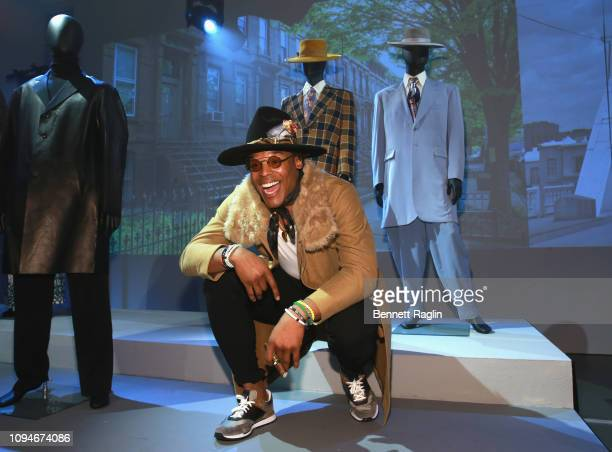 Cam Newton attends IMG And Harlem Fashion Row Host Next Of Kin An Evening Honoring Ruth E Carter at Spring Studios on February 6 2019 in New York City