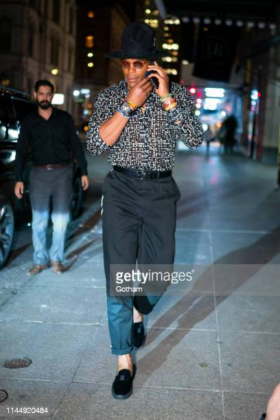 Cam Newton attends OffWhite private dinner at L'Avenue in Midtown on April 24 2019 in New York City