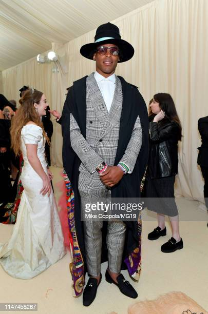 Cam Newton attends The 2019 Met Gala Celebrating Camp Notes on Fashion at Metropolitan Museum of Art on May 06 2019 in New York City
