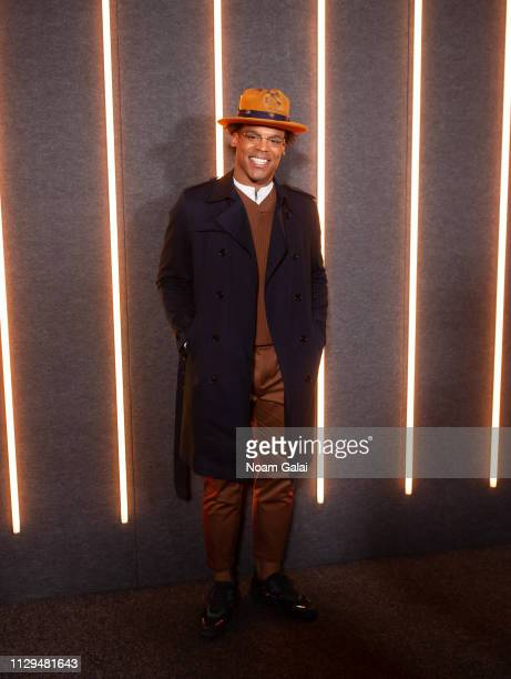 Cam Newton attends the BOSS Womenswear Menswear fashion show during New York Fashion Week on February 13 2019 in New York City