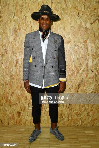Cam Newton attends the OffWhite Menswear Spring Summer 2020 show as part of Paris Fashion Week on June 19 2019 in Paris France
