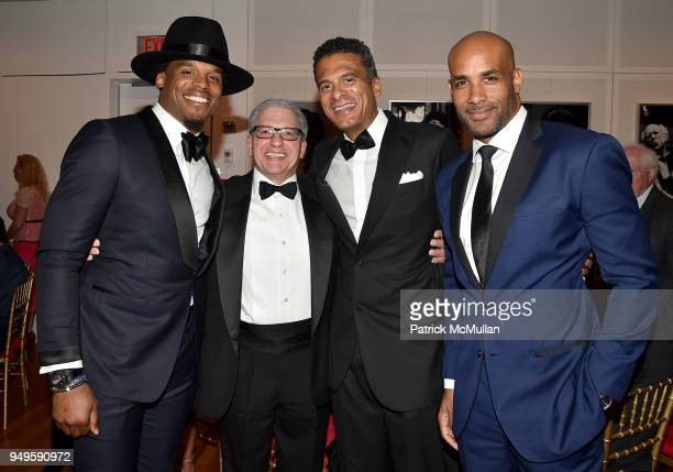 Cam Newton Frank D'Amelio John Utendahl and Boris Kodjoe attend Opera and Couture Radmila Lolly at Carnegie Hall on April 20 2018 in New York City