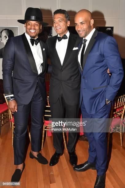 Cam Newton John Utendahl and Boris Kodjoe attend Opera and Couture Radmila Lolly at Carnegie Hall on April 20 2018 in New York City