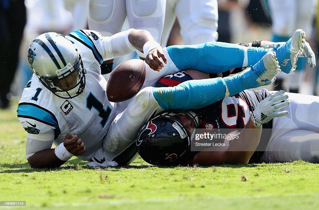 4f6be2f82 Cam Newton of the Carolina Panthers and J.J. Watt of the Houston ...