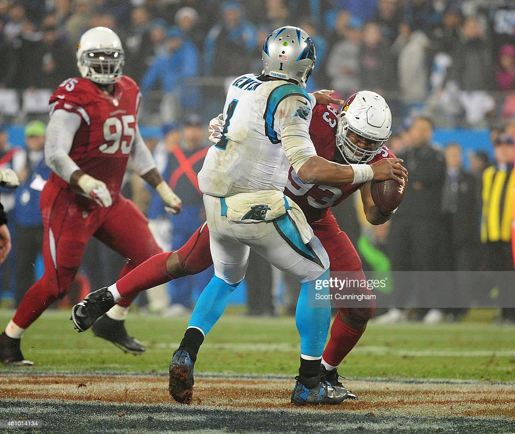 Wild Card Playoffs - Arizona Cardinals v Carolina Panthers : News Photo