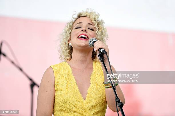 Cam performs onstage during the ACM Party For A Cause Festival at Globe Life Park in Arlington on April 17 2015 in Arlington Texas