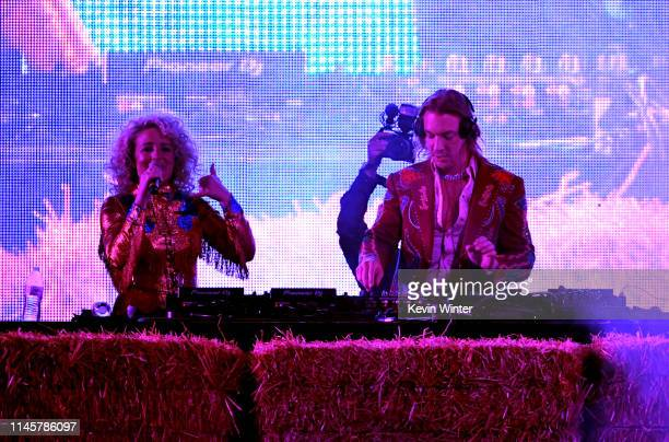 Cam performs with Diplo onstage during the 2019 Stagecoach Festival at Empire Polo Field on April 28, 2019 in Indio, California.