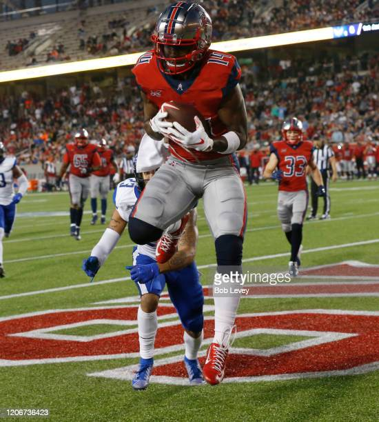Cam Phillips of the Houston Roughnecks catches a pass for a touchdown in the second quarter against the St Louis Battlehawks at TDECU Stadium on...