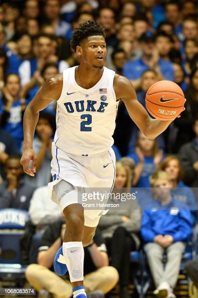 Cam Reddish of the Duke Blue Devils against the Eastern Michigan Eagles during their game at Cameron Indoor Stadium on November 14 2018 in Durham...