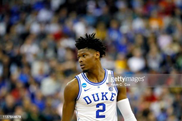 Cam Reddish of the Duke Blue Devils looks on against the North Dakota State Bison in the first half during the first round of the 2019 NCAA Men's...