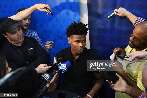 Cam Reddish speaks with the media during Day One of the NBA Draft Combine at Quest MultiSport Complex on May 16 2019 in Chicago Illinois NOTE TO USER...