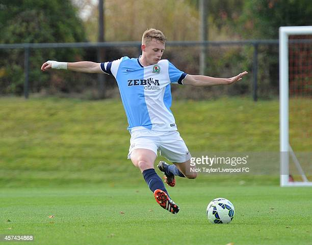 Cam Scott of Blackburn Rovers in action during the Barclays Premier League Under 18 fixture between Liverpool and Blackburn Rovers at the Liverpool...