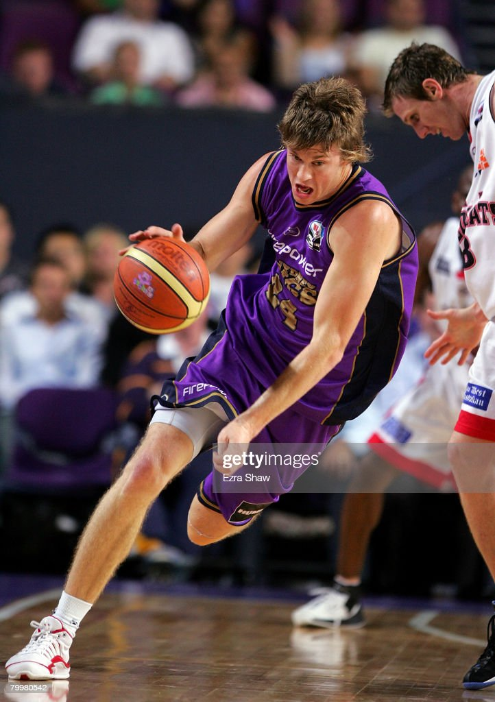 Cam Tovey of the Kings dribbles the ball during game one of the NBL Semi Final Series between the Sydney Kings and the Perth Wildcats at Sydney Entertainment Centre on February 25, 2008 in Sydney, Australia.
