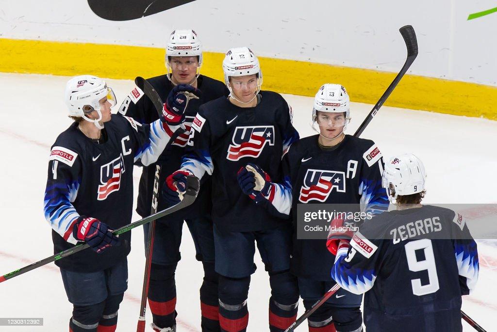 United States v Austria: Preliminary Round Group B - 2021 IIHF World Junior Championship : News Photo